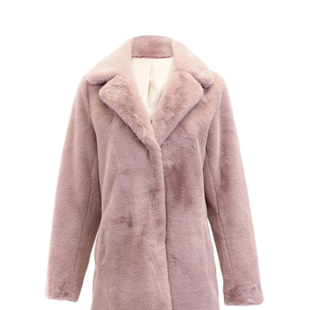 Dolce Cabo - 74871 Dolce Cabo Faux Fur Coat - Blush and Light Gray - Jacket