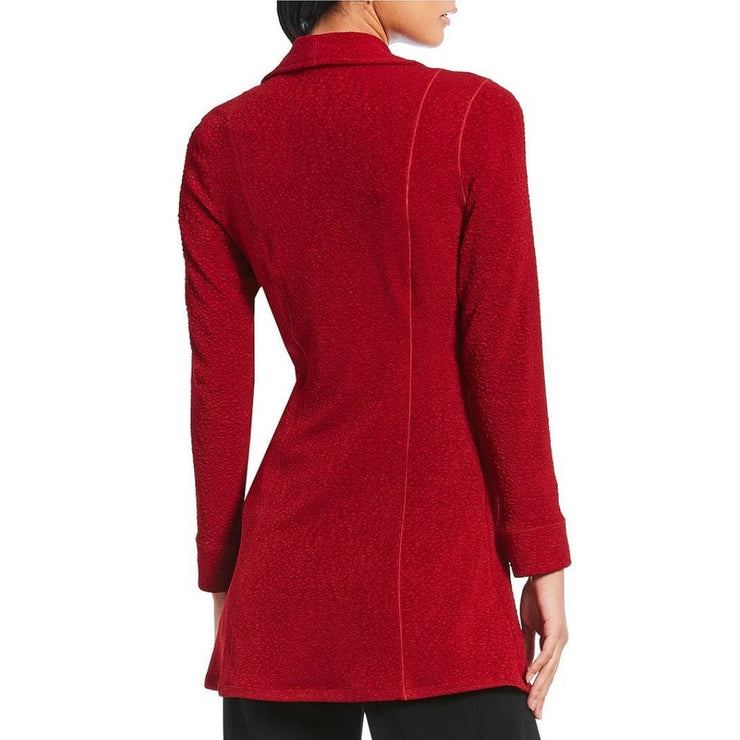 EVA VARRO - Barcelona Long Red Zipper Jacket - Jacket