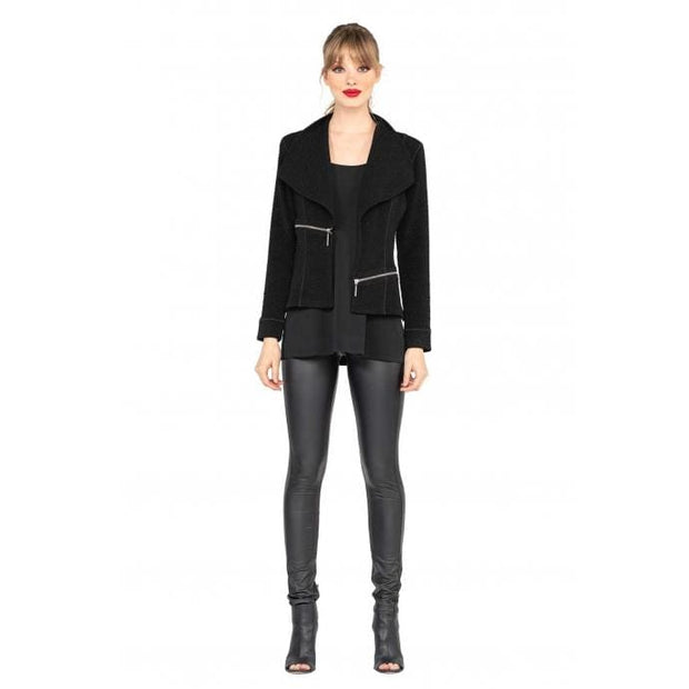 EVA VARRO - Barcelona short Black Jacket - Jackets and Coats