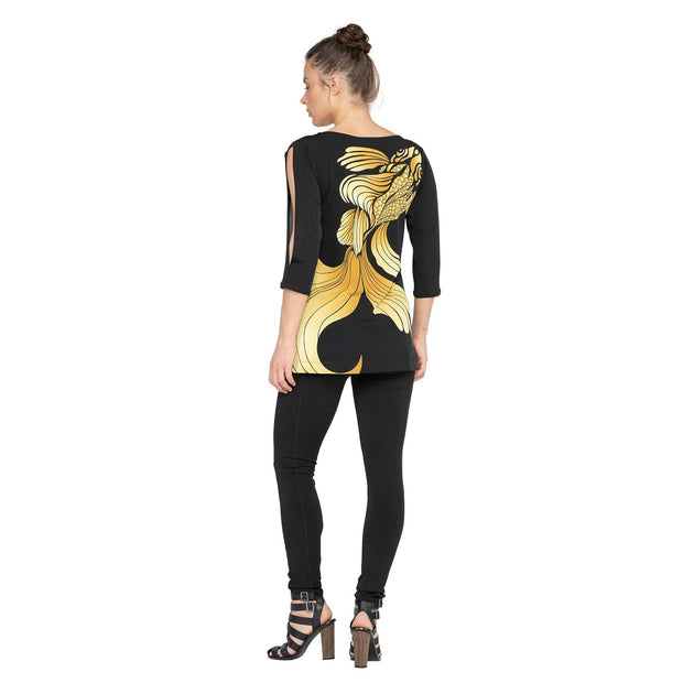 EVA VARRO - Gold Fish Tunic - Top
