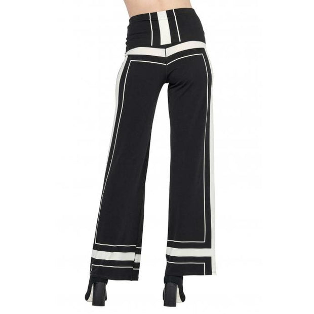 EVA VARRO - P12322 Eva Varro Black and White Palazzo Pants - Pants