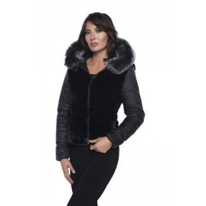 193132U Black Faux Fur Jacket