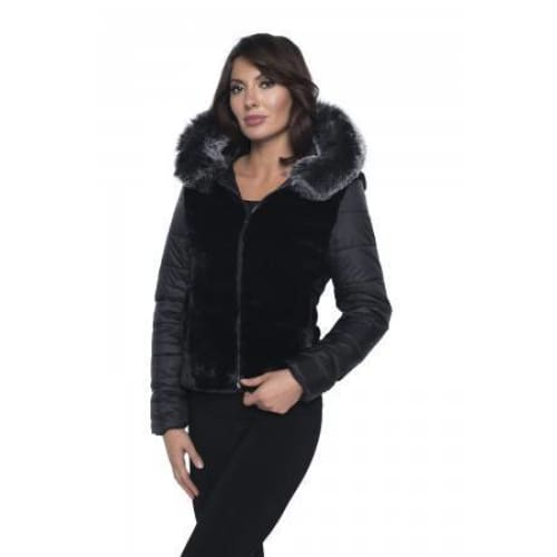 Frank Lyman - 193132U Black Faux Fur Jacket - Women - 193132U-1