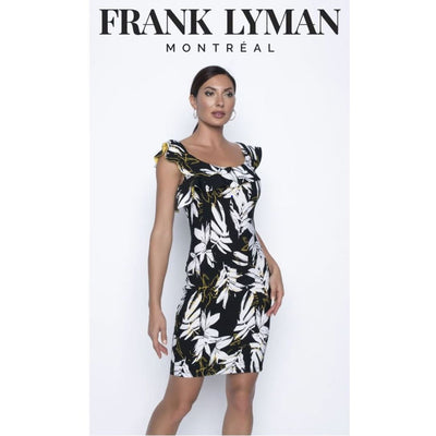 Frank Lyman - 196509 Black/White/Gold Dress - Dresses - 196509