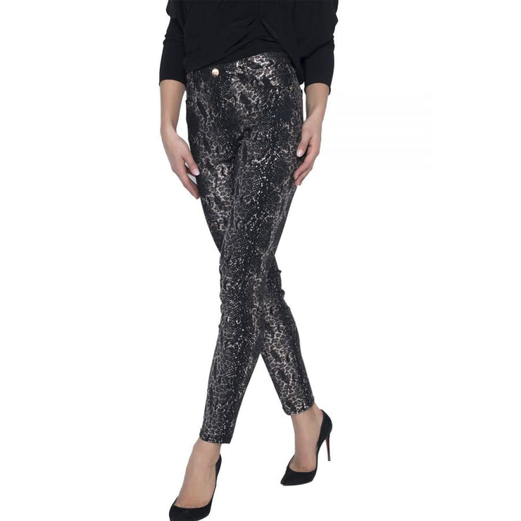 Divalani Style - Frank Lyman Reversible Black and Gold Pants - 203103U