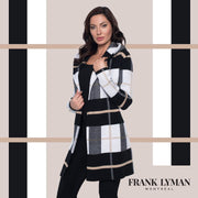 Frank Lyman - 203177U Beige Plaid Hooded Cardigan - Cardigan