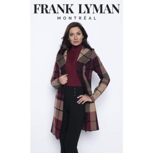 Divalani Style - 203178U Plaid Hooded Cover Up
