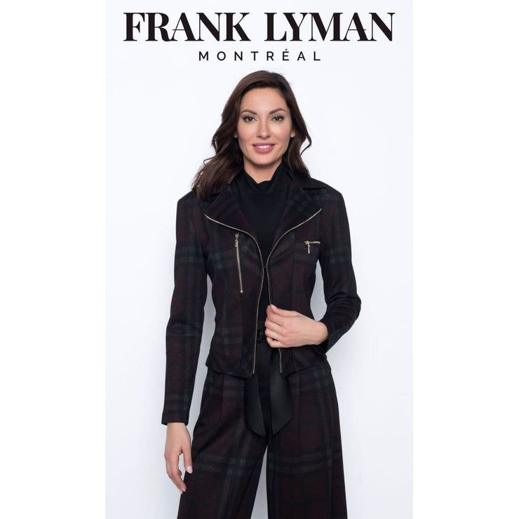 Frank Lyman - 203595 Frank Lyman Plaid Zipper Jacket - Jacket