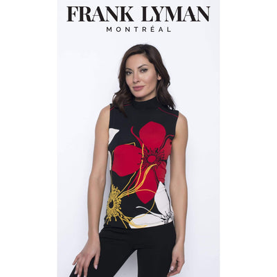 Frank Lyman - Frank Lyman Sleeveless Floral Mock-Neck - Tank Top - 203723