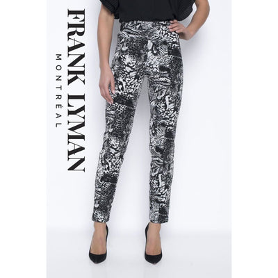 Frank Lyman - 203747 Black and White Patterned Pants - Pants