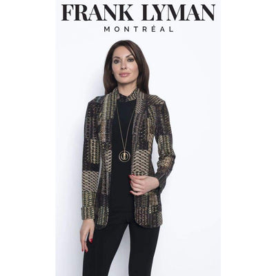 Frank Lyman - Brown Peacock printed Jacket - Jacket