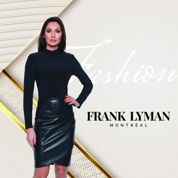 Frank Lyman - 204421 Frank Lyman Faux Leather Skirt - Skirts