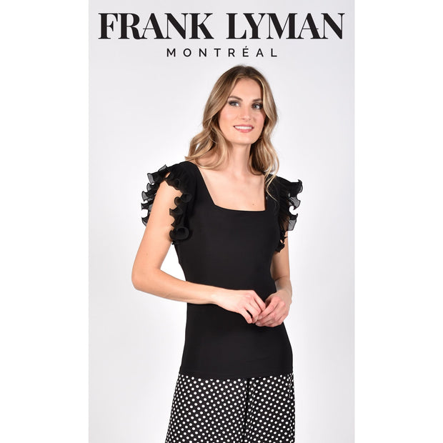 Frank Lyman - 211025 Black Tank Top - Shirt