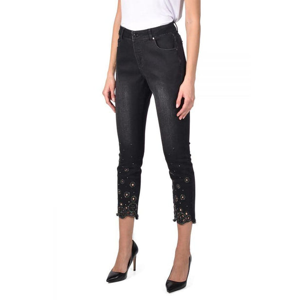 Frank Lyman - 211099U Black Jeans with Circular Beading - Jeans