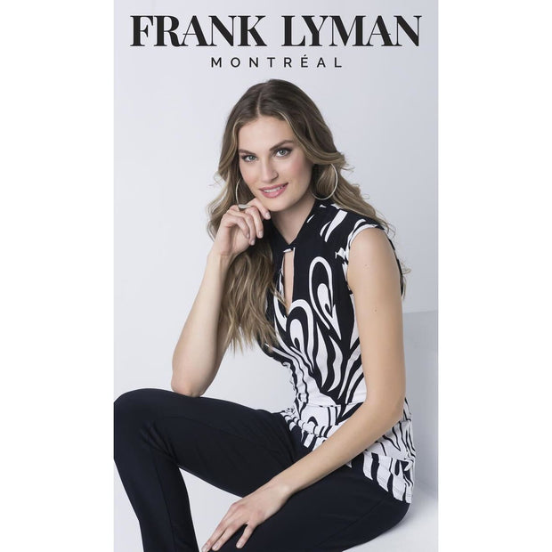 Frank Lyman - 216460 Navy & Off White Tunic by Frank Lyman - Shirt