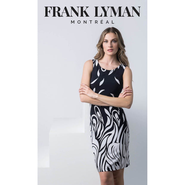 Frank Lyman - 216518 Sleeveless Black White Dress - Dress