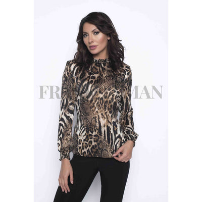 Frank Lyman - Animal Print Blouse - Top - 193812