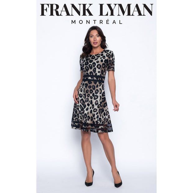 Frank Lyman - Animal Print Flare Dress - Dress - 194254-1