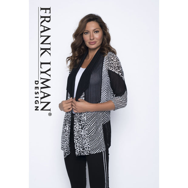 Frank Lyman - Black and White Knit Cardigan - Cardigan - 191107U-1