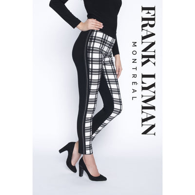 Frank Lyman - Black and White Plaid Pants - Pants - 193542-1