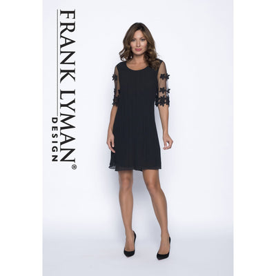 Frank Lyman - Black Floral Woven Dress - Dress - 191131U-1