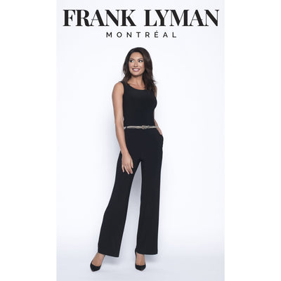 Frank Lyman - Black Knit Pant with Animal Print Belt - Pants - 193037-1