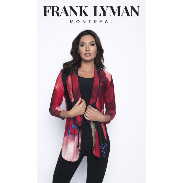 Frank Lyman - Black Red and Green Knit Cardigan - Cardigan - 193789-1