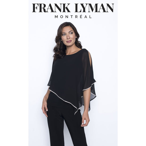 Frank Lyman - Black Top With Rhinestone Hem - Top - 185420