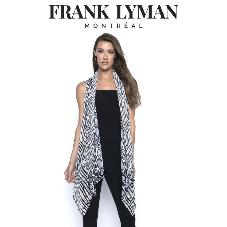 Frank Lyman - Black/White Mesh Vest - Top - 196123U-1