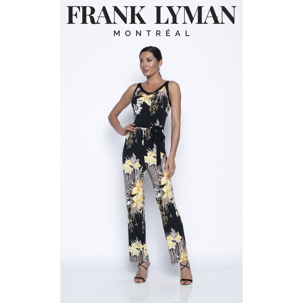 Frank Lyman - Black/Yellow Knit Jumpsuit - Jumpsuits - 196396