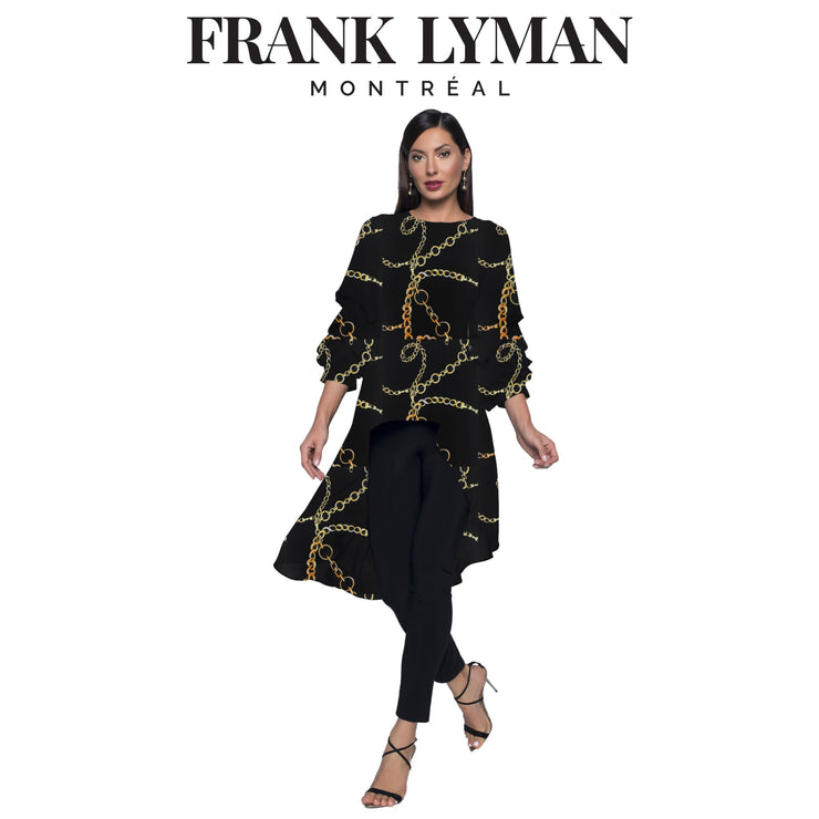 Frank Lyman - Chain High Low 3/4 Slv Top - Top - 203355