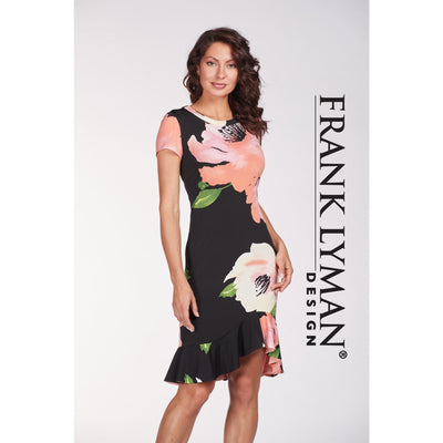 Frank Lyman - Floral Print Short Sleeve Dress - Dress - 186644-1