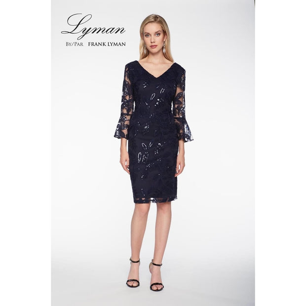 Frank Lyman - Lace Navy Dress - Dress - 198146