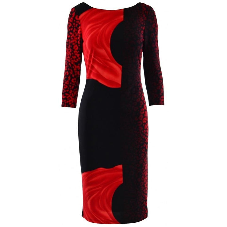 Frank Lyman - Red Abstract Print Dress - Dress - 183142
