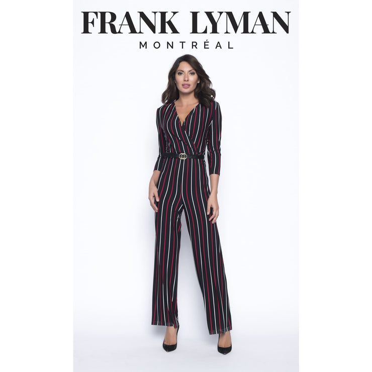 Frank Lyman - Red and White Striped Jumpsuit - Jumpsuits - 193435