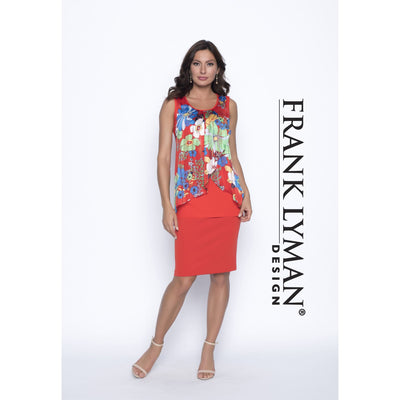 Frank Lyman - Red Colorful Tank - Top - 186302-1
