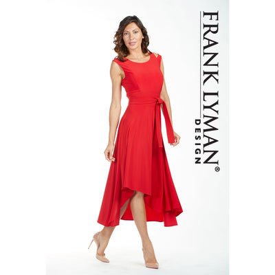 Frank Lyman - Red High-Low Dress - Dress - 185015