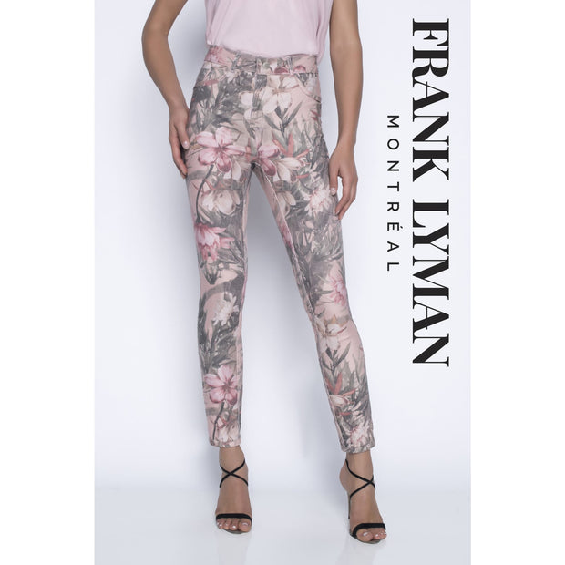 Frank Lyman - Reversible Floral/Pink Denim - Pants - 196115U-1