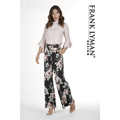 Frank Lyman - Rose Flower Pants - Pants - 183336-1
