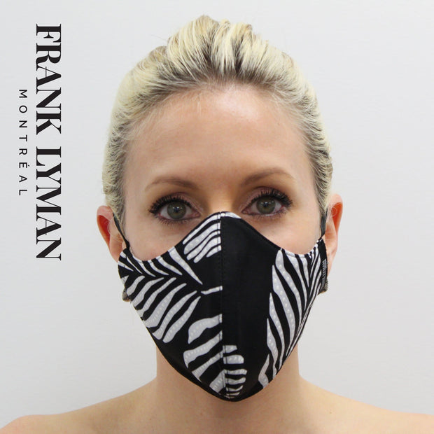 Frank Lyman - Unisex Adult Masks Black White Print - Accessories