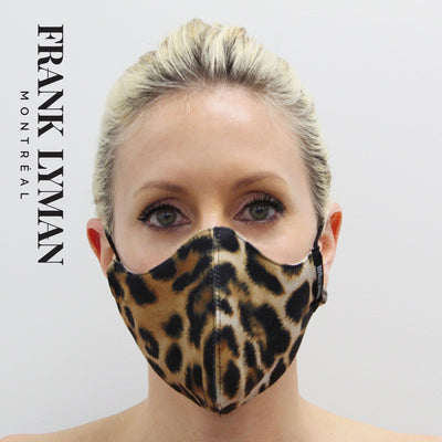 Frank Lyman - Unisex Adult Masks in Big Leopard Print - Accessories