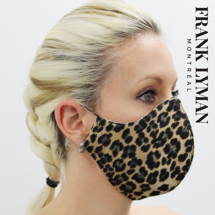 Frank Lyman - Unisex Adult Masks in Small Leopard Print - Accessories