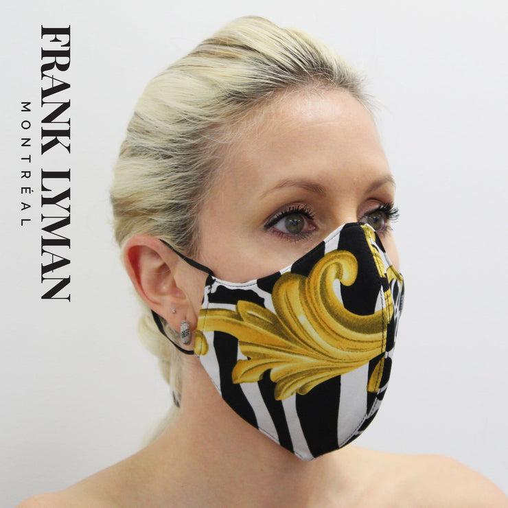 Frank Lyman - Unisex Adult Masks in Yellow Black Print - Accessories