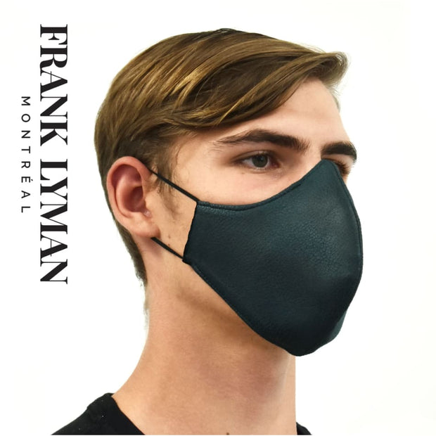 Frank Lyman - Unisex Hunter Green Faux Leather Mask - Mask