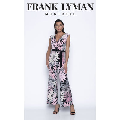 Frank Lyman - White/Black/Pink Knit Jumpsuit - Dresses - 196406