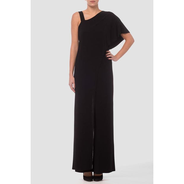 Joseph Ribkoff - 183145 Joseph Ribkoff Black One Shoulder Jumpsuit - Jumpsuits