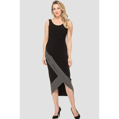Joseph Ribkoff - 192909 Joseph Ribkoff ruched black midi dress - Dress