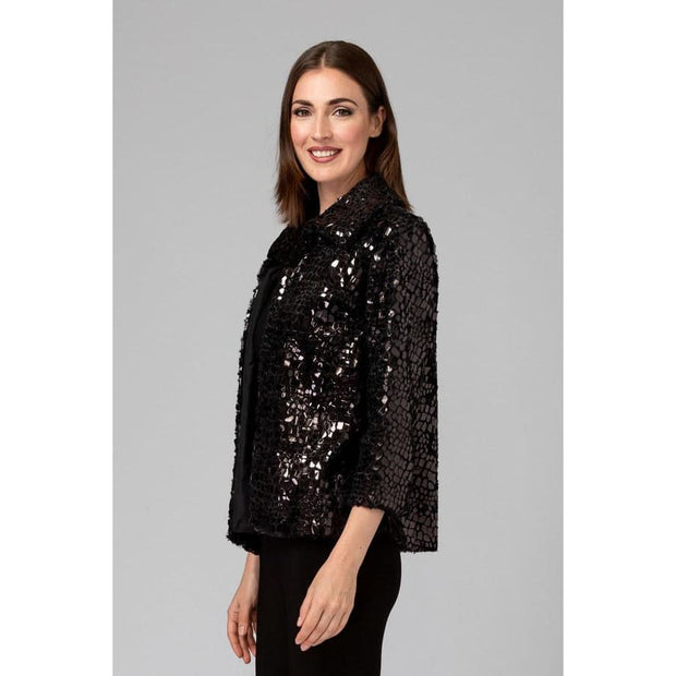 Joseph Ribkoff - 194504 Black Disco Ball Jacket - Jacket