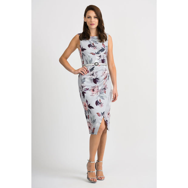 Joseph Ribkoff - 201222 Floral Fitted Dress - Dresses - 201222