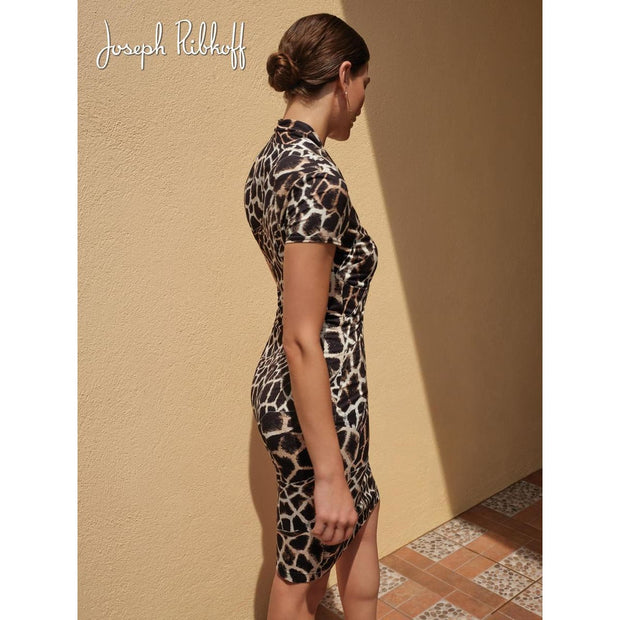 Joseph Ribkoff - 201368 Animal Print Dress - Dress - 201368-1